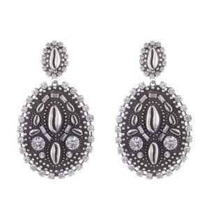 DANNIJO Spano Metal Shell Drop Earrings